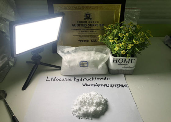 China Brazilian market 99.85%pure Lidocaine Hydrochloride powder Safety clearance supplier