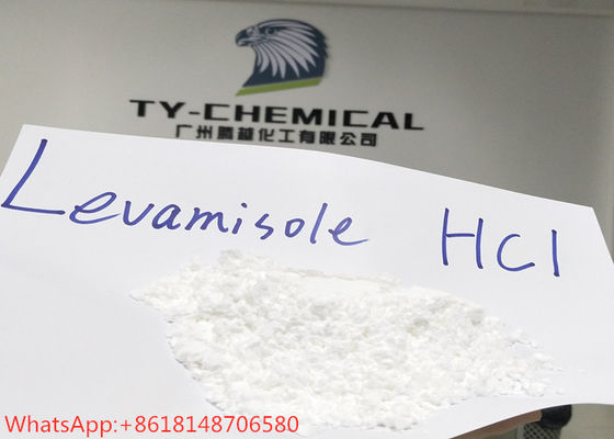 China Levamisole hydrochloride Pharmaceutical Raw Materials 99% Purity Antifungal Drug factory