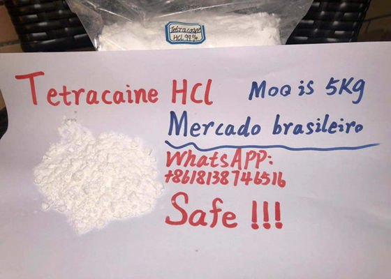 China Safe clearance high quality Tetracaine Hydrochloride Powder Brazilian market distributor