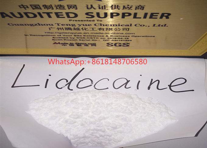 Pharmaceutical Drug Lidocaine Hydrochloride Powder Lidocaina Relieve Pain